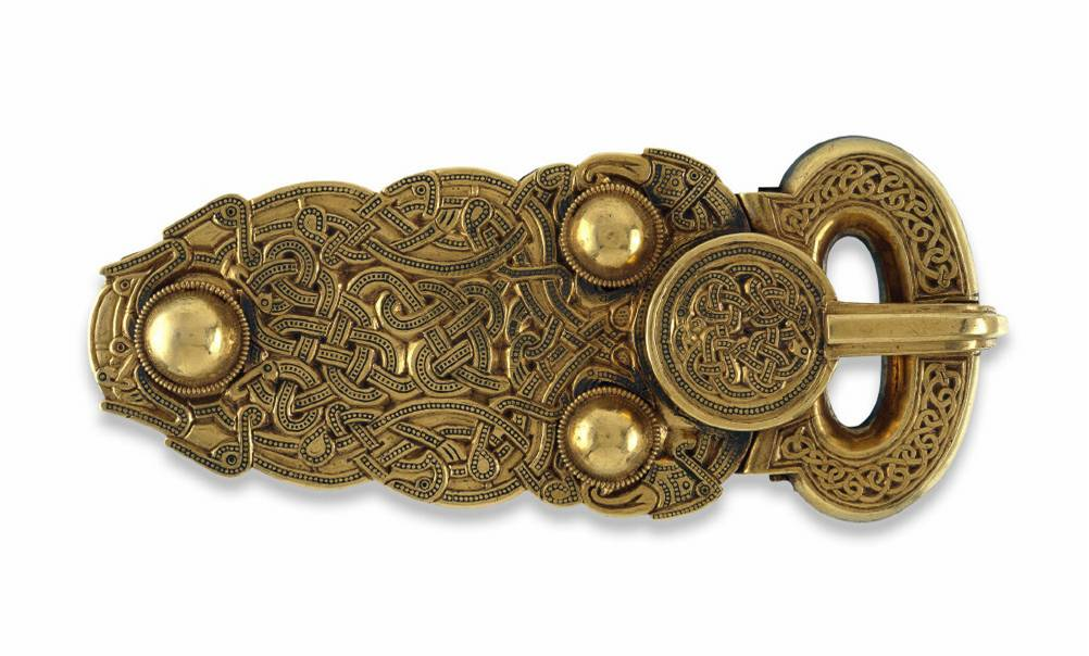 Anglo-Saxon Gold Belt Buckle, Sutton Hoo, British Museum