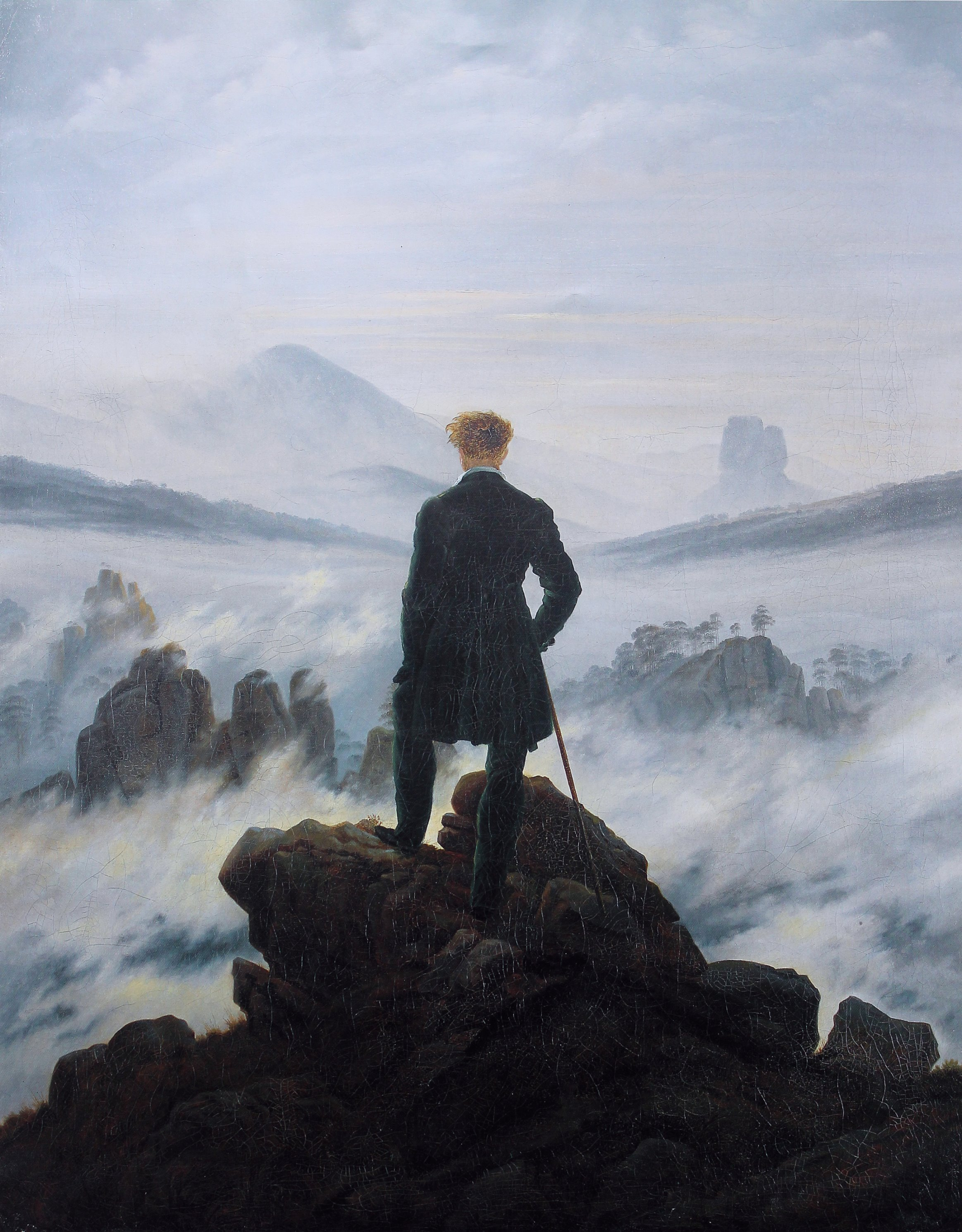 Wanderer Above Sea of Fog by Friedrich